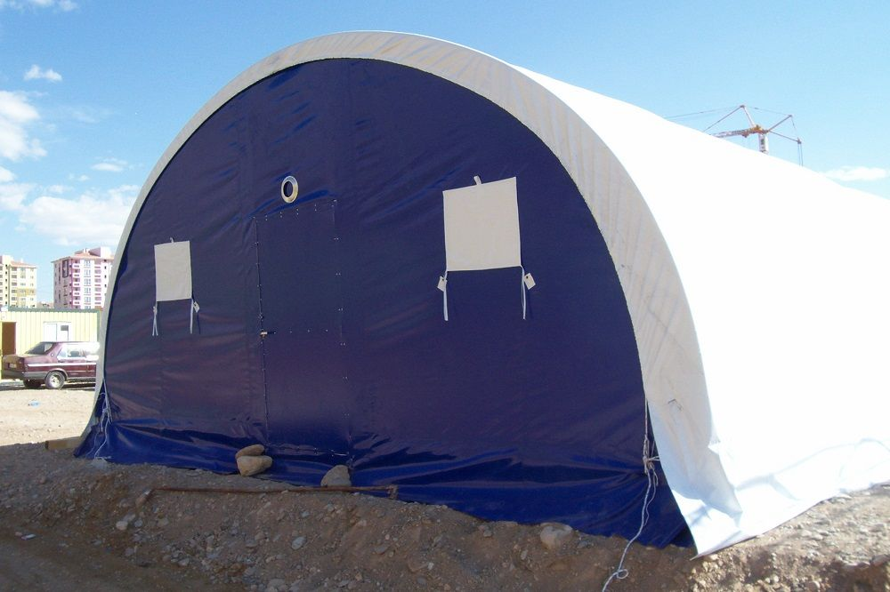 Construction Site Tents with Elliptic Models